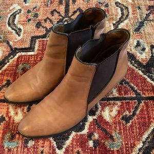 Franco Sarto Brown Leather Booties